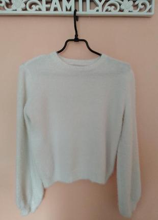 Кофта свитер bershka травка с широкими рукавами s-m2