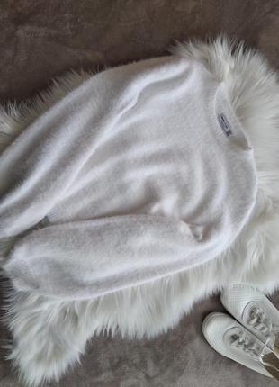 Кофта свитер bershka травка с широкими рукавами s-m1