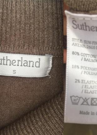 Sutherland базовый вязанный гольф цвета мокко размер с-м5