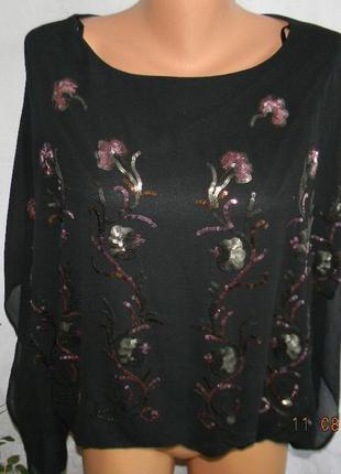 Новая красивая нарядная блуза паетки voulez vous1