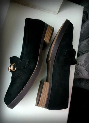 Замш туфли лоферы2