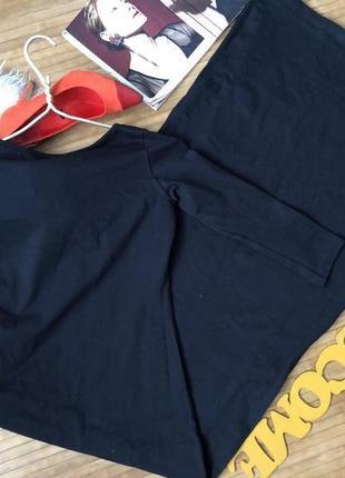 Стильное длинное черное платье в обтяжку с рукавом 3/4 от pink boutique хs3