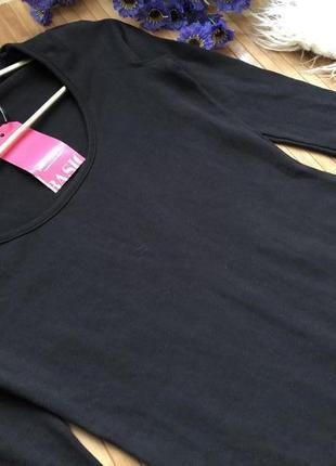 Стильное длинное черное платье в обтяжку с рукавом 3/4 от pink boutique хs4