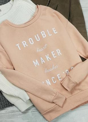 Теплый пудровый свитшот в184914 atmosphere размер uk6/34 (xs/s) свитер кофта