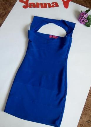 Платье вечернее мини футляр бюстье синее 46 48 размер скидка топ лук скидка sale boohoo3