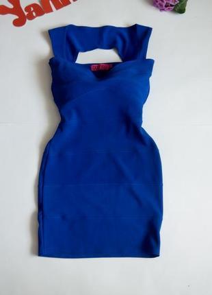 Платье вечернее мини футляр бюстье синее 46 48 размер скидка топ лук скидка sale boohoo1