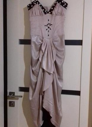 Супер нарядное длинное  платье/ плаття нарядне3 фото