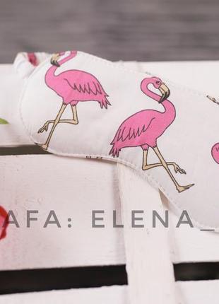 Пижама с фламинго + подарок (маска для сна), вещи для дома, акция!5