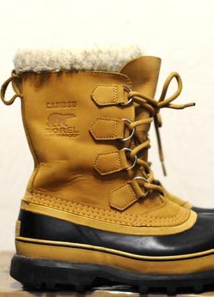 40/25 см, мужские зимние ботинки sorel caribou -40, очень теплые сапоги черевики