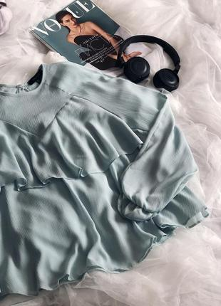 Блуза с рюшами романтическая стильная4