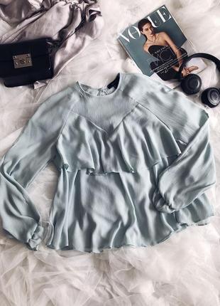 Блуза с рюшами романтическая стильная2