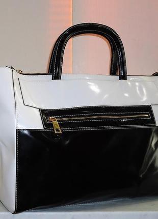 Шикарная большая кожаная сумка alberta di canio3 фото