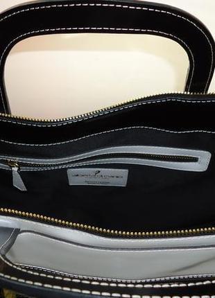 Шикарная большая кожаная сумка alberta di canio4 фото
