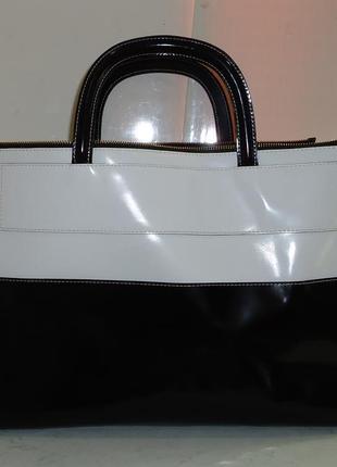 Шикарная большая кожаная сумка alberta di canio