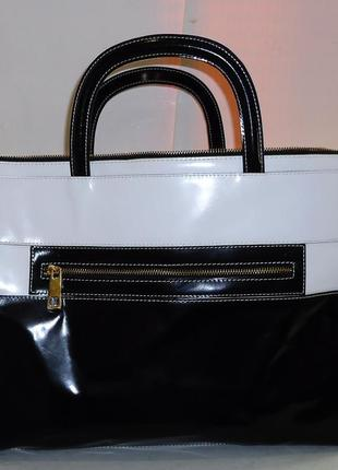 Шикарная большая кожаная сумка alberta di canio2 фото