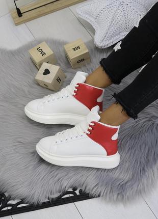 Новые белые зимние кроссовки размер 373