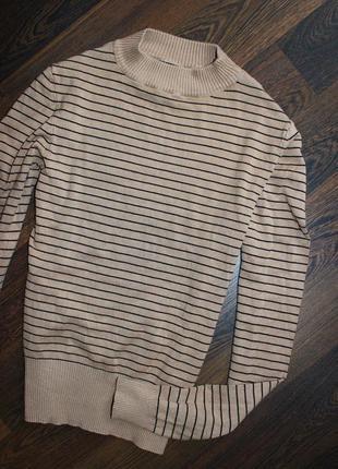 Гольф свитер в полоску