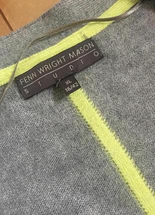 Серый кардиган из альпаки, шерсти и вискозы fenn wright mason studio5