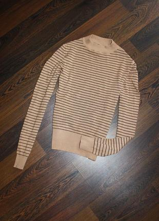 Гольф свитер в полоску2