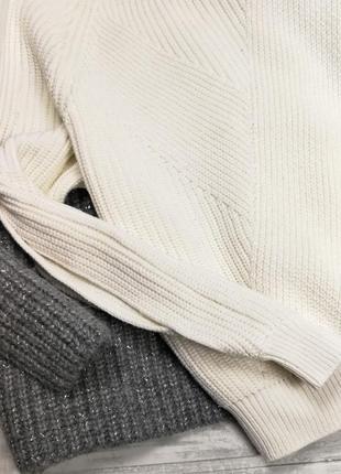 Белый свитер с вырезами на рукавах 185008 tu размер uk12 (s/m)3