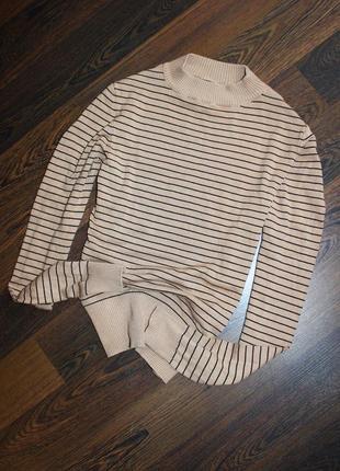 Гольф свитер в полоску3