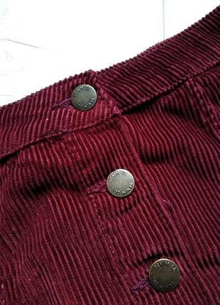 Вельветовая юбка на пуговках р. m/l3