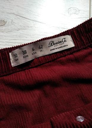 Вельветовая юбка на пуговках р. m/l5