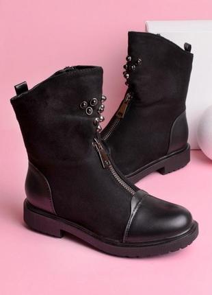 Ботинки на низком каблуке1
