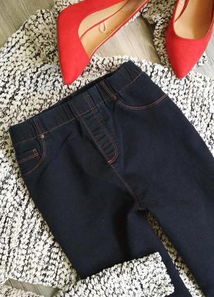 Стильные джинсы скинни на резинке джеггинсы высокая посадка талия1