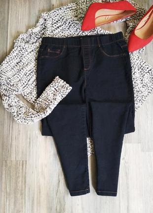 Стильные джинсы скинни на резинке джеггинсы высокая посадка талия2