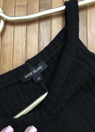 Макси платье в рубчик с разрезами3 фото