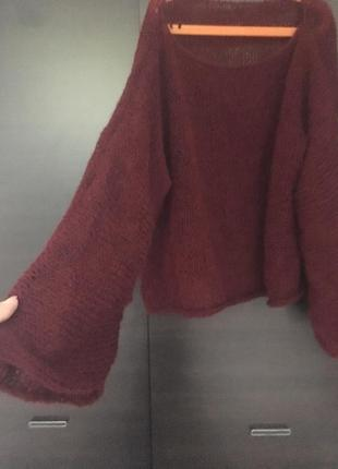 Модна кофта з шовком и кідмохер грубої в'язки3