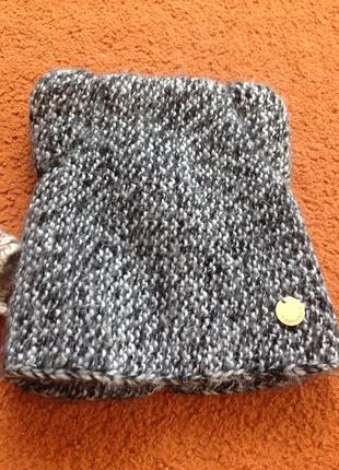 Шерстяная шапка с ушками1