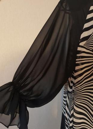 Нарядное черно/белое платье4