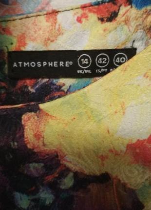 Плотная блуза топ оверсайз цветочный принт м,l2