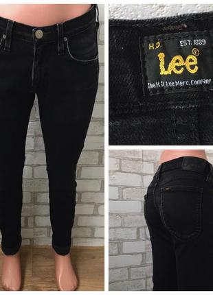 Чёрные плотные джинсы lee