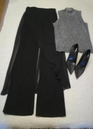 Нарядные брюки с юбкой французского бренда orna farno, размер eur – 421