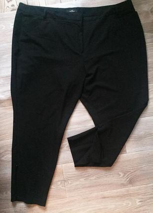 Фирменные зауженные брюки большого размера 54-601