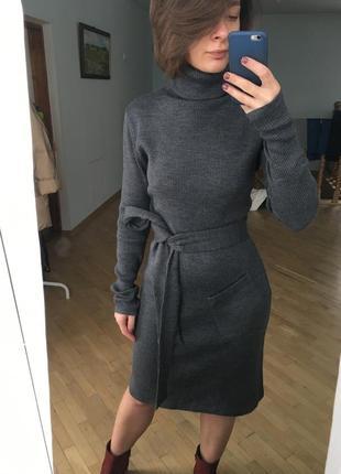 Крута тепла сукня в рубчик (чулок)1