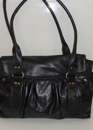 Стильная кожаная сумка f&f1