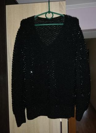 Кофта, свитер, паетки с бисером1
