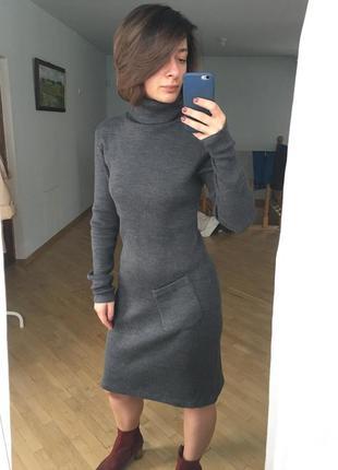 Крута тепла сукня в рубчик (чулок)2