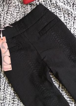 Стильные брючки брюки скинни с высокой посадкой талией1 фото