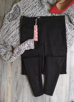 Стильные брючки брюки скинни с высокой посадкой талией2 фото