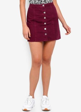 Вельветовая юбка на пуговках р. m/l1