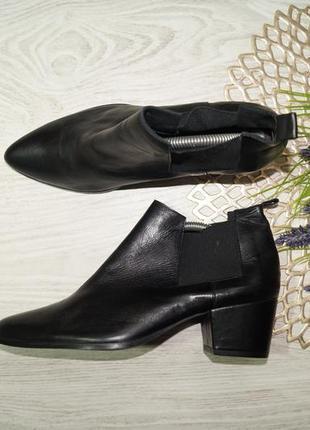(39/25,5см) bianco! португалия! кожа! безупречные ботинки - челси, полусапожки