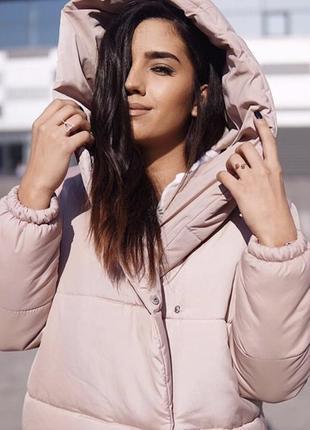 Земфирка - пальто бежевого цвета / зимняя куртка / одеяло / на синтепоне 3001 фото