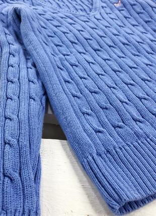 Стильный свитер в косы плотной вязки дорогого бренда crew clothing3