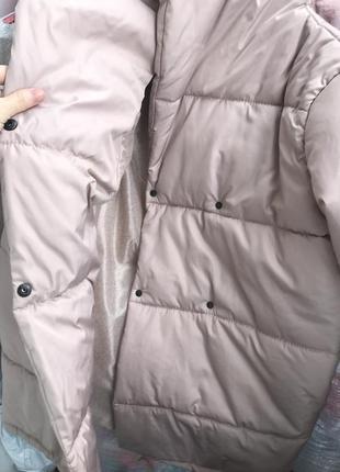 Земфирка - пальто бежевого цвета / зимняя куртка / одеяло / на синтепоне 3004 фото