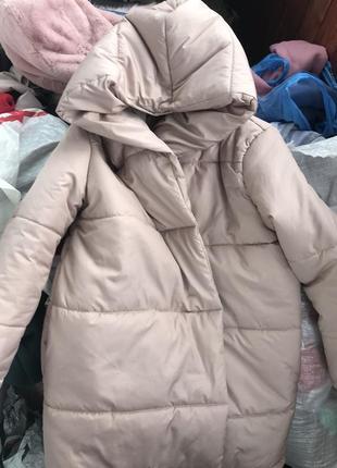 Земфирка - пальто бежевого цвета / зимняя куртка / одеяло / на синтепоне 3005 фото